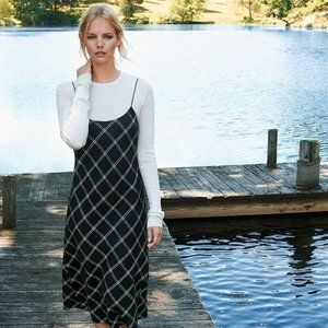 Tibi Salome Plaid Bias Dress - Original $625